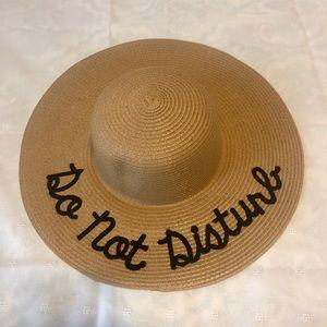 Accessories - NWOT Floppy Beach Sun Hat - Do Not Disturb